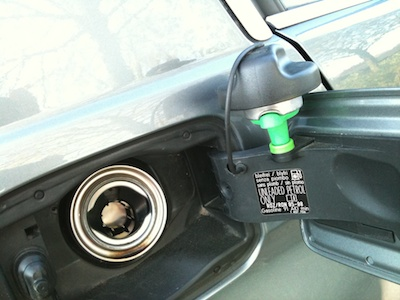 Fuel filler neck and cap.