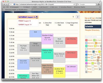 time schedule online